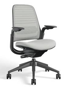 Steelcase Series 1 Work Office Chair ~ 4D Adjustable Arms & LiveBack Technology ~ Color: Nickel Retails for over $400)