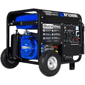 DuroMax 12000-Watt 18 HP Gasoline Powered Electric Start Portable Generator with Wheel Kit-   $1400 Piece of Equipment