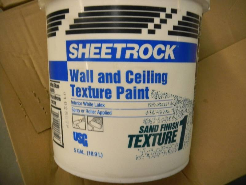 5 Gallon Sheetrock Wall Ceiling Texture Paint Sale 4 Formerly Bargain Depot Complete