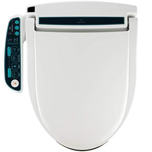 BidetMate 2000 Series Electric Bidet Heated Smart Toilet Seat with Unlimited Heated Water, Side Panel Remote, Deodorizer, and Heated Dryer - Adjustable and Self-Cleaning - Fits Elongated Toilets