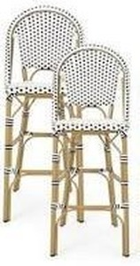 Kinner Outdoor Aluminum French Barstools by CKH  SET OF 2