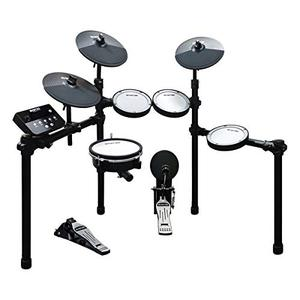 HXW SD61-5 Mesh Kit Electric Drum Set 8-Piece Electronic Drums, Dual-zone Snare and Cymbal With Choke, Drum Sticks Included