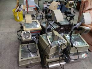 Lot of Transparency Overhead Projectors