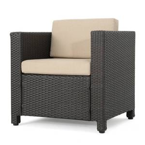 Puerta Outdoor Wicker Club Chair with Cushions by Christopher Knight Home- 3 Total Chairs-  YES 3 Chairs We Found More!
