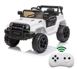 Leadzm Electric 12V Kids Battery Ride On Car w/ MP3 & Remote Control - White Model LZ922