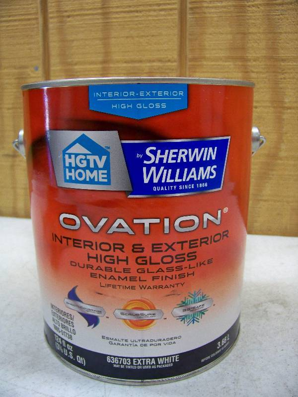 Gallon Sherwin Williams Ovation Interior Exterior High Gloss Belton Bulk Items And Re Auction Equip Bid