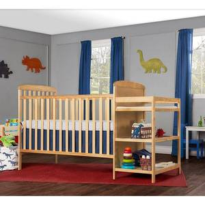 Dream On Me Anna 4-in-1 Convertible Crib and Changer, Natural
