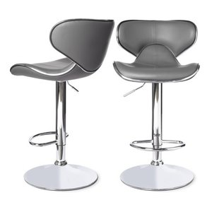 Clay Alder Home Masaccio Leatherette Airlift Adjustable Swivel Barstool 1only Retail:$126.49