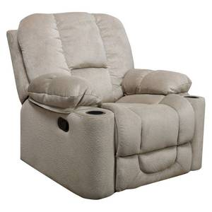 gannon fabric reclining glider club chair by christopher knight latte beige- Retail:$420.68