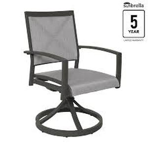 allen and roth everchase dining chairs only set of 4 rust resistant aluminum frame with dark grey powder coated finish