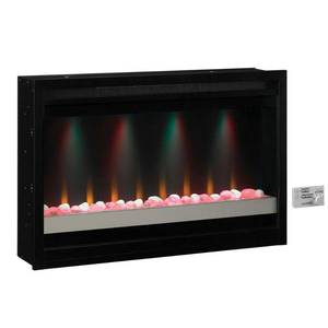 36-in Black Electric Fireplace Firebox