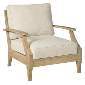 Signature Design by Ashley Clare View Outdoor Beige Lounge Chair w/Cushion.Retail for $425