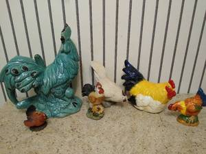 (6) Rooster kitchen decor