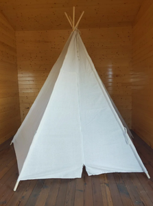 8 Ft Super Large 5Pole OffWhite Teepee Tent for Indoor And Outdoor - 5Pole8Feet. $118.99 Retail