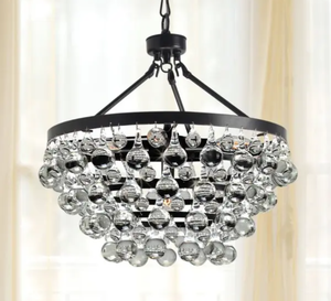 Gracewood Hollow Poradeci Symmetric Crystal Antique Brushed Black Copper Chandelier - Retail:$139.99