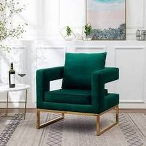 Round Hill Furniture Lenola Contemporary Upholstered Accent Arm Chair