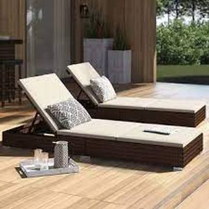 Corvus Outdoor Wicker Chaise Lounge w/ Cushions
