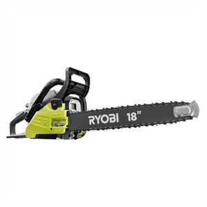 RYOBI 18 in. 38cc 2-Cycle Gas Chainsaw with Heavy Duty Case.Retail Price $179