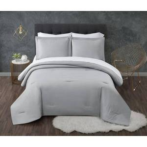 Queen 7pc Antimicrobial Seersucker Bed in a Bag Gray - Truly Calm