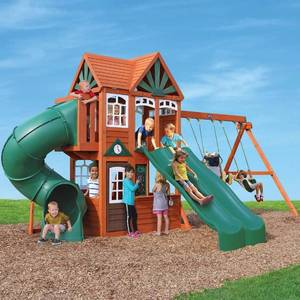 Cedar summit valley view deluxe play set