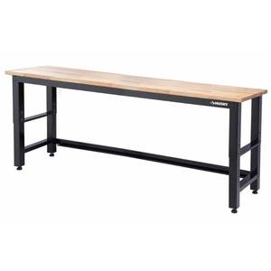 Husky 8 ft. Adjustable Height Solid Wood Top Workbench