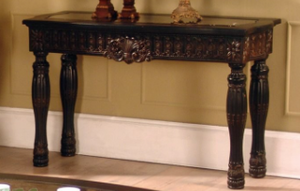 Ajax Carved Marble Top Sofa Table