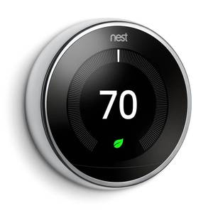 Google Nest Learning Thermostat 3rd Gen in Polished Steel - Retail $250.00