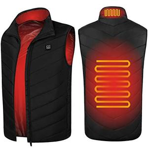 Heated Vest for Men Lightweight USB Charging Electic Heated Jacket Washable Warm Vest for Outdoor Camping Hiking Golf(Battery not Included)