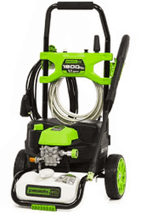 Greenworks 1800psi portable electric power washer