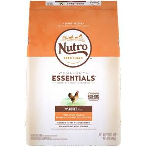 Nutro Wholesome Essentials Farm-Raised Chicken, Brown Rice & Sweet Potato Recipe Adult Dry Dog Food - 15lbs