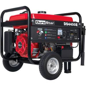 Durostar DS4400E 7 HP Gasoline Powered Electric Start Portable Generator with Wheel Kit, 4400-watt, EPA Approved