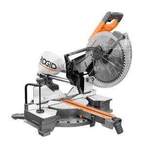 RIDGID 15 Amp Corded 12 in. Dual Bevel Sliding Miter Saw with 70 Deg. Miter Capacity and LED Cut Line Indicator