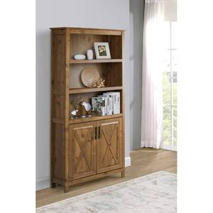 Rustic Brown Jeanette 7.08661'' H x 32.9921'' W Standard Bookcase