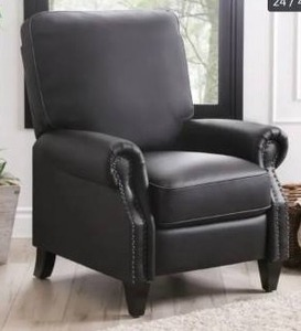 Abbyson Carla Bonded Leather Pushback Recliner- Retail:$382.49