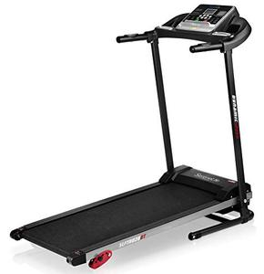SereneLife Folding Treadmill - Foldable Home Fitness Equipment with LCD for Walking & Running - Cardio Exercise Machine - 4 Incline Levels - 12 Preset or Adjustable Programs - Bluetooth Connectivity