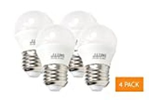 J.LUMI 40W Equivalent LED A15 Light Bulb - 5W Accent Light Bulb with E26 Base, 3000K Soft White, Not Dimmable (4 PACK)