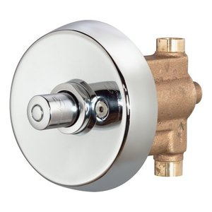 Showeroff Single Push-Button Metering Valve Trim (Valve Not Included)
