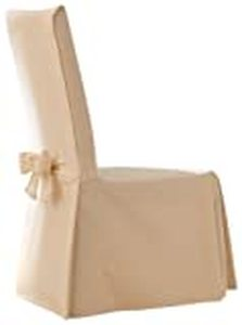 Cotton Duck Long Dining Room Chair Slipcover Natural - Sure Fit