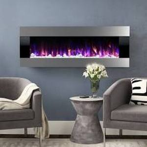 "Quesinberry Wall Mounted Electric Fireplace - 20""H x 54""W x 5.5""D"