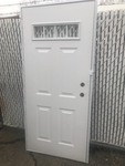 "new 34"" x 76"" trailer style door easy mount as pictured"