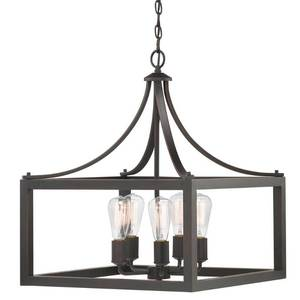 Home Decorators Collection Boswell Quarter 5-Light Distressed Black Pendant