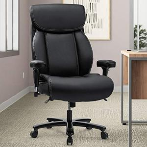REFICCER Big & Tall 400lb Office Chair, Ergonomic Design Heavy-Duty Metal Base Thicken Padding High-Back Executive Desk Computer Task Chair