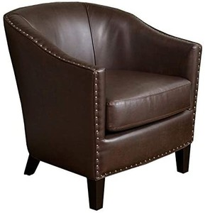 Christopher Knight Home - Austin Brown Bonded Leather Club Chair