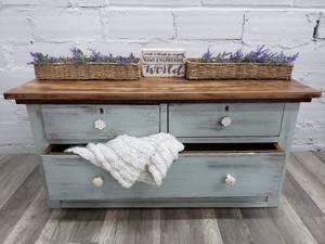 Small Distressed Wood Dresser