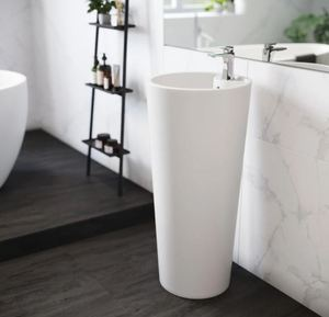Swiss Madison Monaco Circular Basin Pedestal Sink in Glossy White-Retail:$284.49