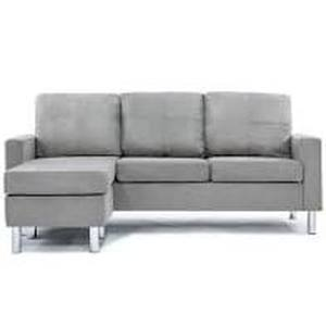 Reversible Sectional Sofa Couch L Shape 3-seat Sofa Couch for Small Apartment- Retail:$401.99