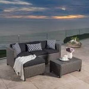 Moses 5 piece outdoor sofa set grey/black