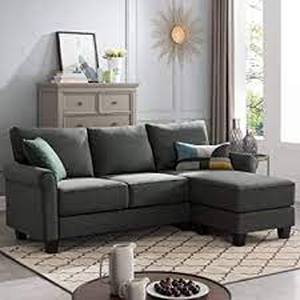 Reversible Sectional Sofa Couch L Shape 3-seat Sofa Couch for Small Apartment- Retail:$419.49
