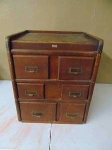 6 Drawer Library Card Cabinet