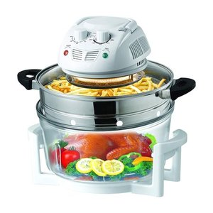 NutriChef PKAIRFR48.5 - Halogen Oven Air-Fryer / Infrared Convection Cooker, Healthy Kitchen Countertop Cooking
